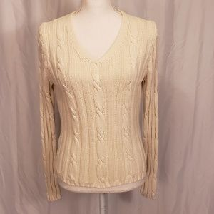 Loft small cable knit women's sweater